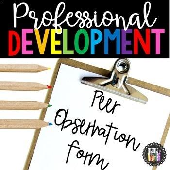 Professional Development: Peer Observation for Teachers