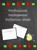 Professional Development Reflection