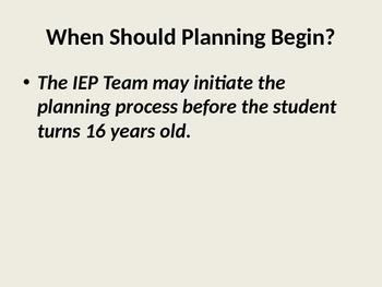 Transition Planning Presentation