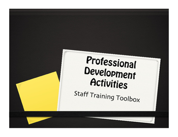 Professional Development Strategies and Activities