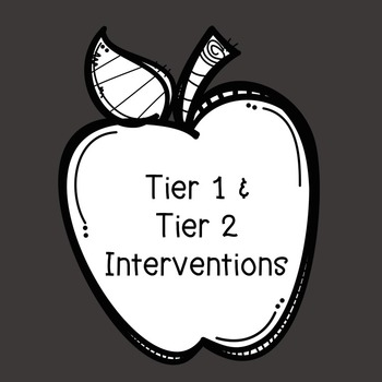 Professional Development Tier 1 & Tier 2 Interventions (RTI)