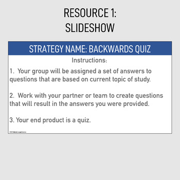 Professional Development Training Engagement Strategy Backwards Quiz