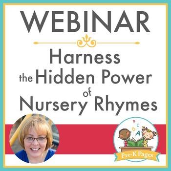 Professional Development Webinar Training Nursery Rhymes
