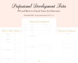 Professional Development and Back to School Notes | LNJ & Co.