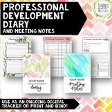 Professional Development Log | Meeting Notes Tracker | DIGITAL