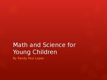 Professional Development for Math and Science in Early Childhood Education