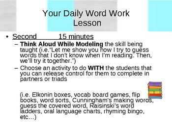 Professional Development for Word Work, Fluency, Literacy Lesson Structure