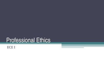 Professional Ethics Fill In