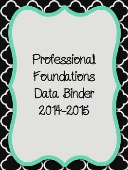 Professional Foundations Evaluation Black Binder