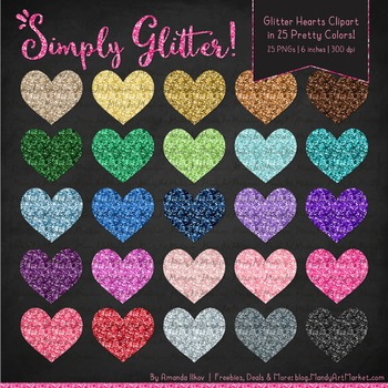 Professional Glitter Hearts Clipart - Glitter Hearts, Glitter Clipart
