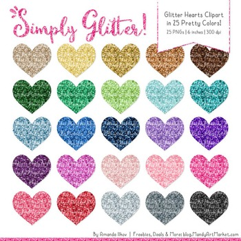 Professional Glitter Hearts Clipart - Glitter Hearts, Glit