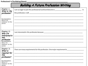 Professional In The Making Career Research Project