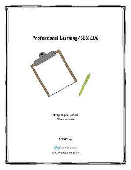 Professional Learning/CEU Log
