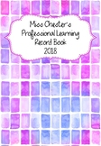 Professional Learning Record Book #16