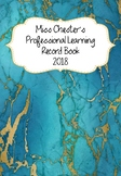 Professional Learning Record Book #18