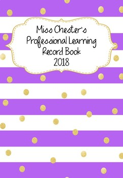 Professional Learning Record Book #9