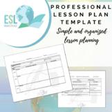 Professional Lesson Plan Template (Fillable PDF)