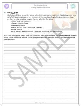 Professional Life (A): Drafting an Effective Speech  (Adult ESL)