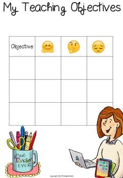 Professional Objectives Chart - Freebie