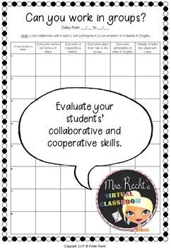 Collaborative Learning - Groupwork Rubrics