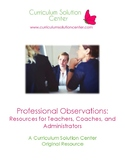 Professional Observations: Resources for Teachers, Coaches