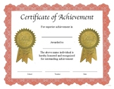 """Professional PDF Editable """"Blank"""" Certificate in Color"""
