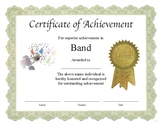 """Professional PDF Editable Certificate in Color """"Band"""""""