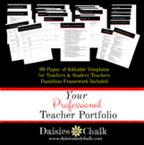 EDITABLE Professional Teacher Portfolio Kit