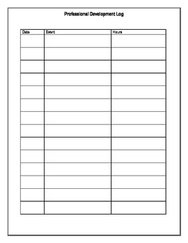 Professional Printables- Logs for Teachers
