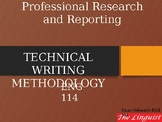 Professional Research and Reporting