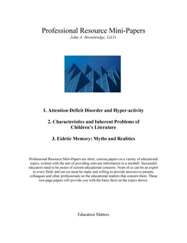 Professional Resource Mini-Papers