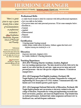 Professional Resume Design Template: Skills-based, Pink