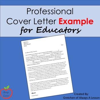 Professional Sample Cover Letter for Educators