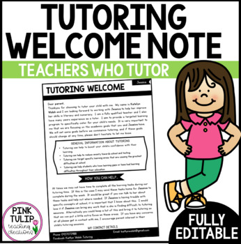 Professional Tutoring Welcome Note to Parents