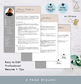 Professional resume templates with photo in blush pink and gray