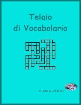 Professioni (Professions in Italian) Kriss Kross puzzle