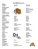Professions Comprehensive Vocabulary List Bien Dit 3®