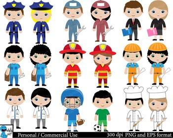Professions Digital Clip Art Graphics 18 images cod121
