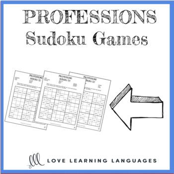Professions - ESL Sudoku Games