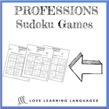 Professions - ESL Sudoku Games