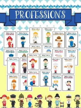 Professions / Jobs / Occupations Card