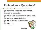 Professions in French Qui suis-je
