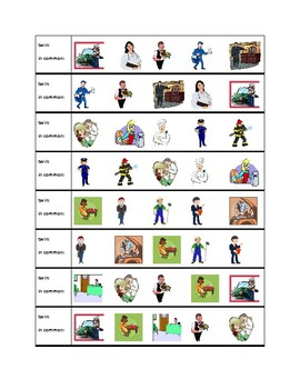 Professions pictures Twins Speaking activity