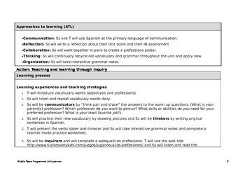 MYP 2 Professions Unit (IB)