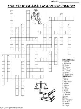 Professions Vocabulary, Activities, Crossword, Games, & Quiz Unit