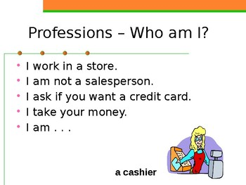Professions Who am I