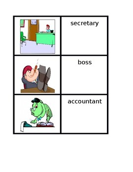 Professions in English Concentration games