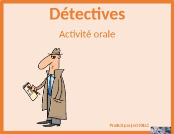 Professions in French Detectives Speaking activity
