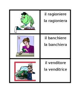 Professioni (Professions in Italian) Concentration games