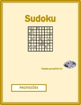 Profissões (Professions in Portuguese) Sudoku